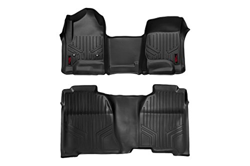 Rough Country M-21143 - Heavy Duty Floor Mats [Front/Rear] - (14-18 Chevy Silverado / GMC Sierra)