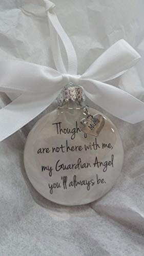 In Memory Mum Gift My Guardian Angel Youll Always Be Mother Memorial Christmas Bauble Ornament