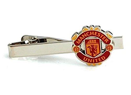 Football Tie Clips - Albetro Manchester United Football Soccer Tie Bar Clip for Men