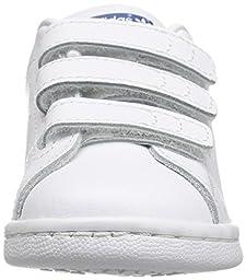 adidas Originals Kids\' Stan Smith CF I Sneaker, White/White/Eqt Blue S, 6 M US Toddler