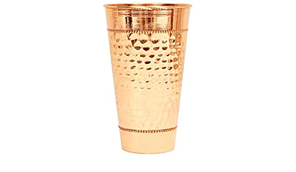Amazon.com | 100% Pure Copper Hammered Copper Big Lassi ...