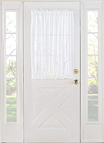 Jody Clarke 2PC French Door Panel Sheer Sidelight Door With 2 Tiebacks Avilabale in Multiple Colors and Sizes (27
