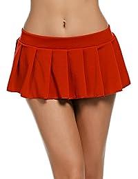 Women Role Play Pleated Mini Skirt Sexy Schoolgirl Lingerie