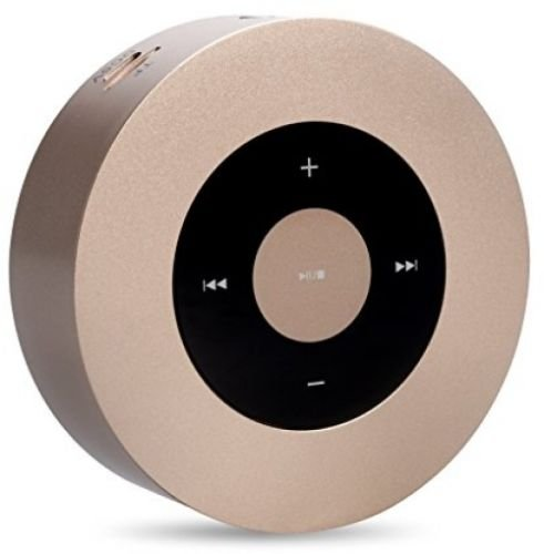 Portable Bluetooth Speaker - A8 Wireless Speaker with Touch Screen Output Strong Bass Stereo Sound for All Bluetooth Devices Enjoy Music with your Android and IOS devices (Gold)