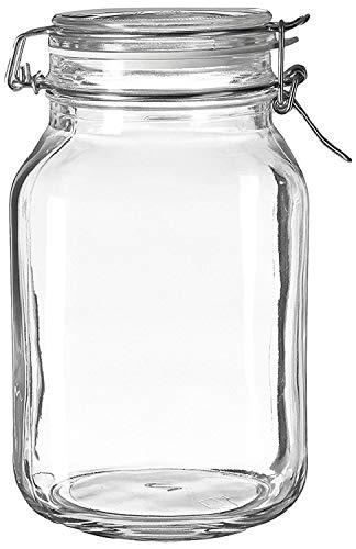 Case of 6 Bormioli Rocco Fido Glass Canning Jar Italian - 2 Liter by Bormioli Rocco ()