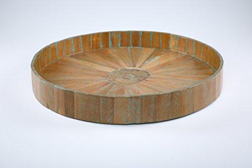 Kenchuto Antique Rustic Teak Wood Tray, 24