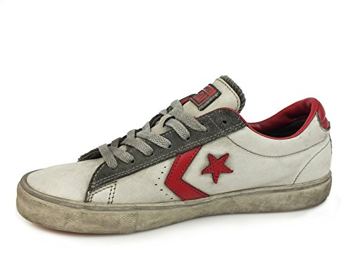 CONVERSE Pro Leather Vulc Ox LTD sneakers uomo PELLE WHITE SMOKE BIANCO 156933C