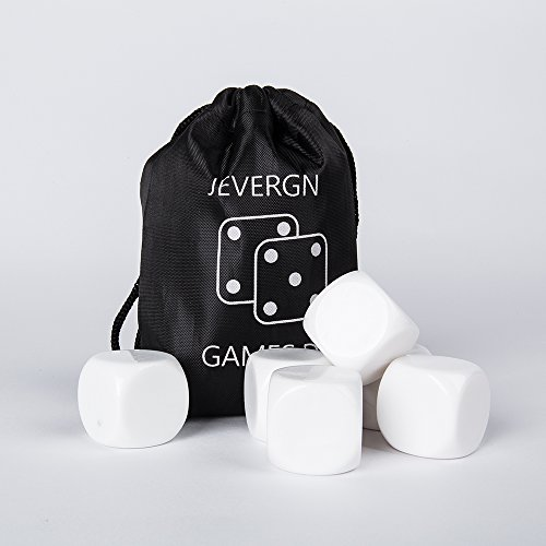 - Large Blank White Dice, 30 MM Rounded D6 Cubes Set for Board Games, DIY Sticker, Teaching