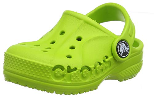 Crocs Kids' Baya Clog |Comfortable Slip On Water Shoe for Toddlers, Boys, Girls, Volt Green, 9 M US Toddler (The Garden Boy The In)