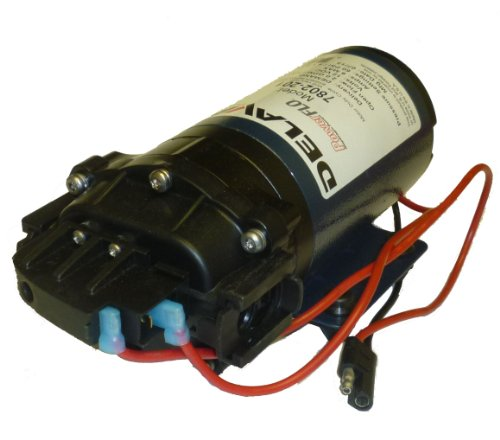 Delavan 7800 Series Diaphragm Pump 12V, 60 PSI, 2.0 GPM, Demand Pump, QA Ports ()