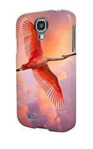 S40426 Free flying flamingo bird Glossy Case Cover For Samsung Galaxy S4 by mcsharks