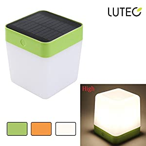 41ZsEMiP pL. SS300  - LUTEC Indoor Solar Light Outdoor Rechargeable Table lamp Night Light with Touch Sensor Emergency lighting for Patio, Camping, Bedroom, Home Decorative
