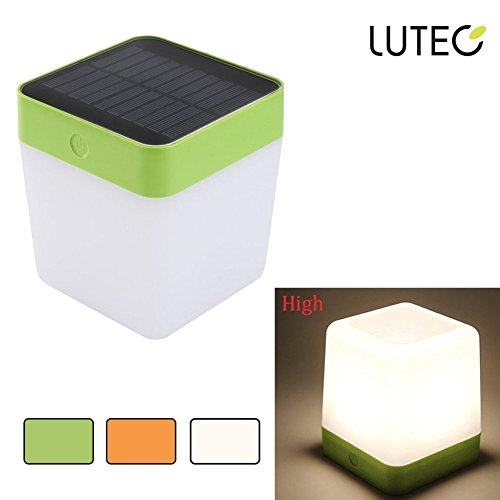 41ZsEMiP pL - LUTEC Indoor Solar Light Outdoor Rechargeable Table lamp Night Light with Touch Sensor Emergency lighting for Patio, Camping, Bedroom, Home Decorative