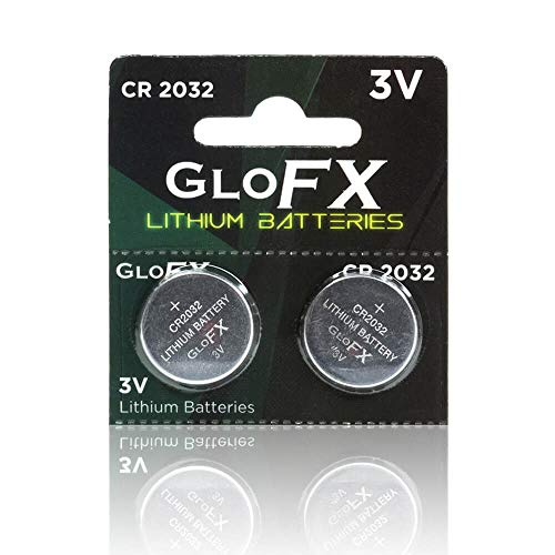 CR2032 Battery- Lithium Button Coin Cell Batteries - 3V 3 Volt - Remote Watch Jewelry led Key fob Replacement 2032 CR Pack Set Bulk (2 Pack)