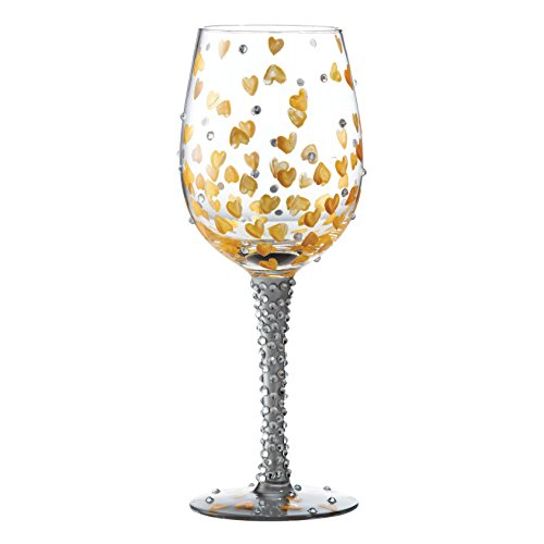 Lolita Glassware - Heart of Gold Standard Wine Glass - 22.5cm - GLS11-5517H