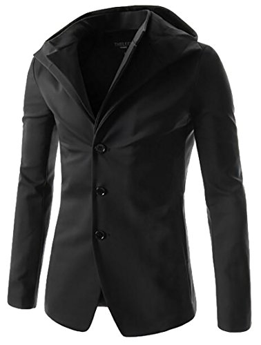 Solid Coat Jacket Long UK today Slim Hoodie Suit Sleeve Blazer Dark Grey Mens ZwxHqET86