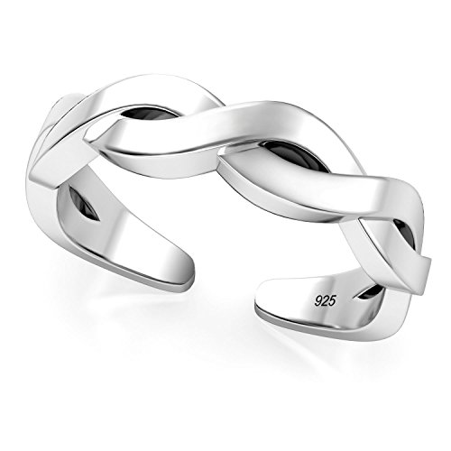 Sterling Silver Celtic Knot Adjustable Toe Band (Bracelet Toe Ring)