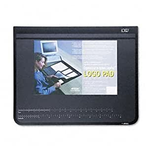 Artistic Products 41100 Logo Padt Recycled Desktop Organizer w/Clear Overlay, 19 x 24, Black