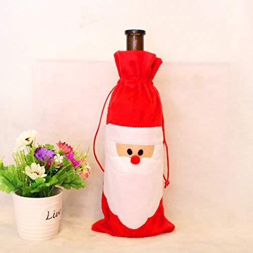 VietHandmade Pendant & Drop Ornaments - 2pcs/lot Santa Claus Red Wine Bottle Christmas Decoration Supplies Bottle Bag Indoor Decoration Bag 1 PCs