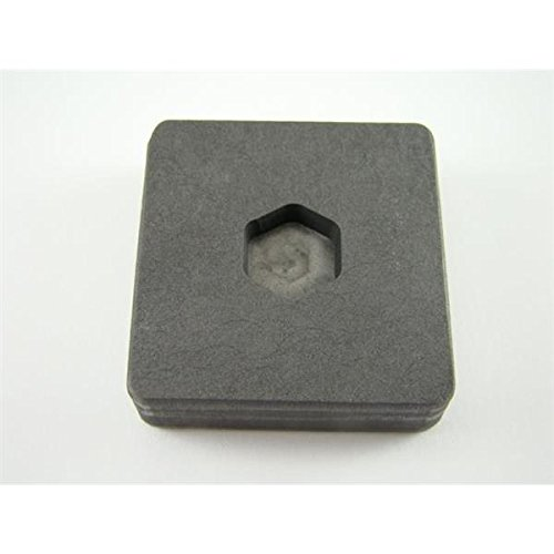 Make Your Own Gold Bars 0.25 oz Hex Mold 0.25 oz Gold 0.125 oz Silver Bar High Density Graphite Hexagon Mold Copper ()
