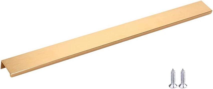 Frolahouse 8 Piezas de manijas de Aluminio para Puerta corredera | Mango Simple Invisible Moderno | Tirador de Borde de Dedo | Tirador de pestaña para Armario de Cocina, sin Borde Afilado: