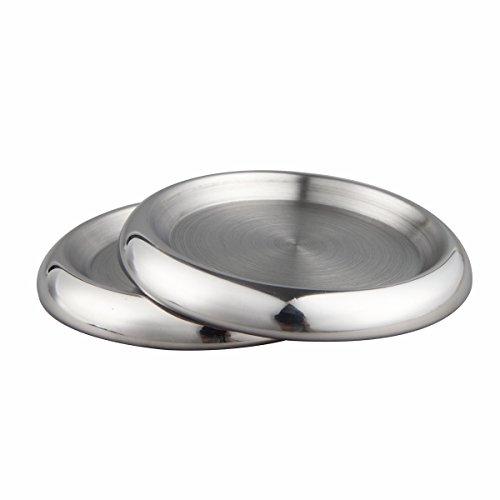 - IMEEA Cup Coasters Candle Holder SUS304 Stainless Steel Round Drink Coasters Bottle Holders, Set of 2