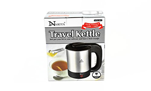 007 Garden (Narita International Electric Hot Pot Water Kettle 1000W Dual Voltage 120V/240V 0.7L (NTK-007) Home Supply Maintenance Store)