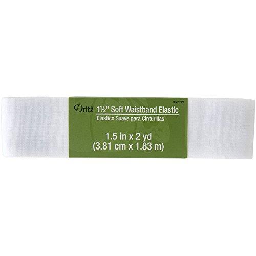 Dritz Notions DRI9577.W Elastic Soft Waistband, 1 1/2