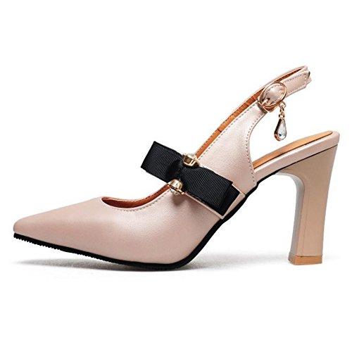 Beige Shoes Heels Coolcept Slingback Court Women Elegant pink Rn6xwzBqYf