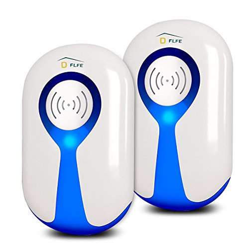 D-FLIFE Pest Repeller,Ultrasonic Pest Plug In Repellent with Night Light|Eco-Friendly Electronic Pest Control for Mice, Mosquitoes, Cockroaches, Ants, Flies, Spiders and More-2 Pack