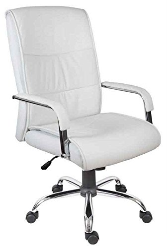 White Luxury Office Chair. Teknik Office Kendal Luxury Executive White  Chair, Size: Seat