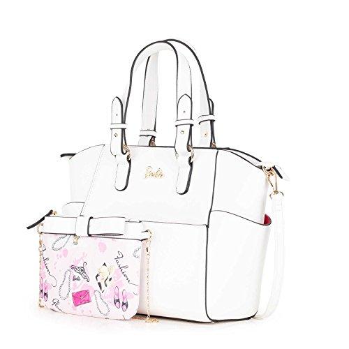 Filles Barbie en blanc la Moderne à Shopping Populaire Elegant série Fashion PU Porté pour à Mode Epaule de Femmes BBFB539 Main Sac Bandoulière rqrHaB