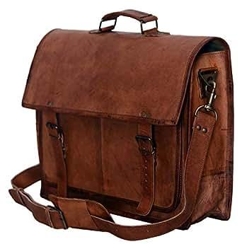 Amazon.com: PL 18 Inch Vintage Handmade Leather Messenger