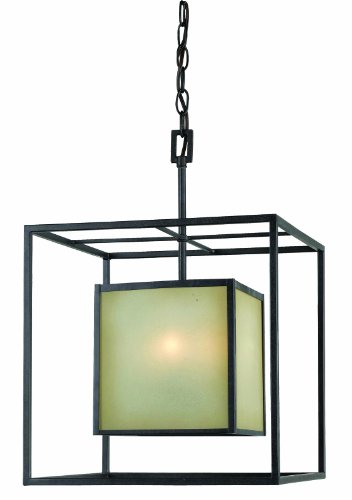 World Imports 4115-55 Hilden Collection 4-Light Hanging Pendant, Aged Bronze
