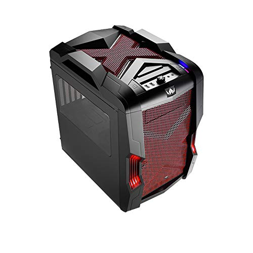 Nanoxia Micro ATX Case for Gaming/Desktop/Cube/Tower - Rexgear 2 Limited Edition, Midnight Garnet Red