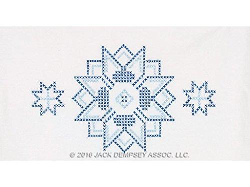 Jack Dempsey JDN1800.54 Pillowcase Lace XX Star ()