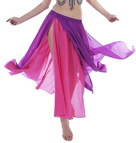 Purple Fairy Skirt Maxi Skirt with Slit Dance Skirt for Women Costumes 4 6 8 10 12