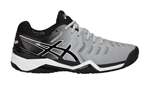 Asics Tennis - ASICS Men's Gel-Resolution 7 Tennis Shoes, Mid Grey/Black/White (10 Medium US)