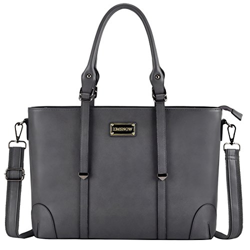 ZMSnow Laptop Tote Bag, Women Professional Business Computer Briefcase Fits 15.6 Inch Laptop for Work (GreyY)