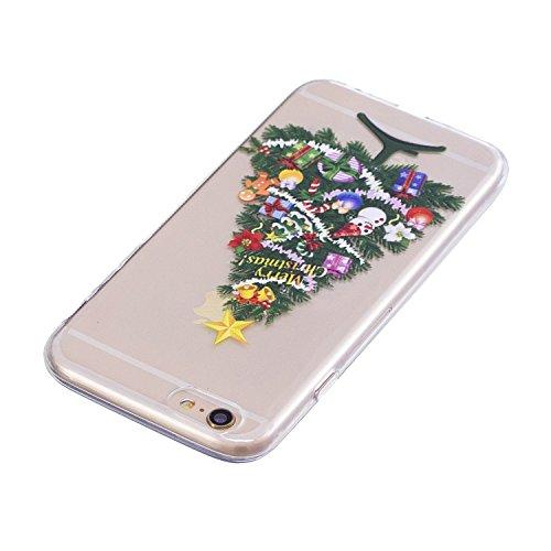 iPhone 6 6S Custodia , Moda Albero Di Natale Silicone leggero Morbido TPU Sollievo Sottile Protezione Antiurto Copertura Antiscivolo Resistente Coperture Cover Case Custodia per Apple iPhone 6 6S