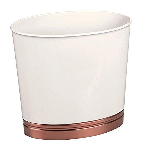 InterDesign York Oval Wastebasket Trash Can for Bathroom, Kitchen, Office Waste, Vanilla and (Venetian Decorative Toilet Tissue Holder)