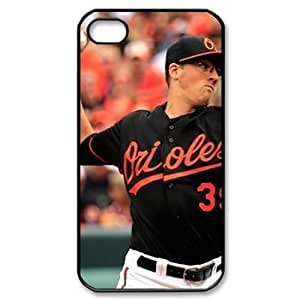 MLB iPhone 4,4S Black Baltimore Orioles cell phone cases&Gift Holiday&Christmas Gifts NADL7B8825387