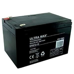 Ultramax npg12-12, 12 V 12ah GEL con batería para niños ...