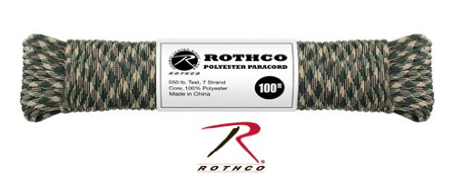 Rothco Polyester Paracord 100 Ft Desert Camo New Great For Paracord Braclets