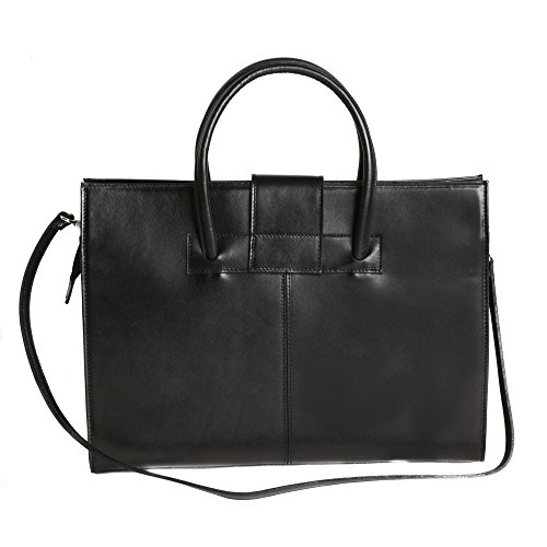 Noir Made Femme in Porte Italy d'affaires cm Cartel cuir italien Handbag 40x30x10 documents en n8zCqO