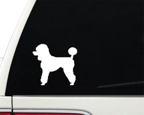 Poodle - Vinyl Decal - Car Phone Helmet - SELECT SIZE (Poodle Size)