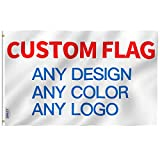 Cheap Anley Double Sided Custom Flag 5×8 Ft for Ourdoors – Print Your Own Logo/Design/Words – Vivid Color, Canvas Header and Double Stitched – Customized Two Side Flags Banners with Brass Grommets 5 X 8 Ft
