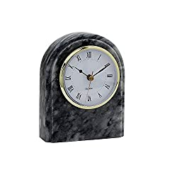Designs by Marble Crafters CL40-CG Cloud Gray Marble Desk Clock