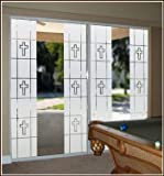 Faith 16'' x 74'' Clear Etched Glass Window Film