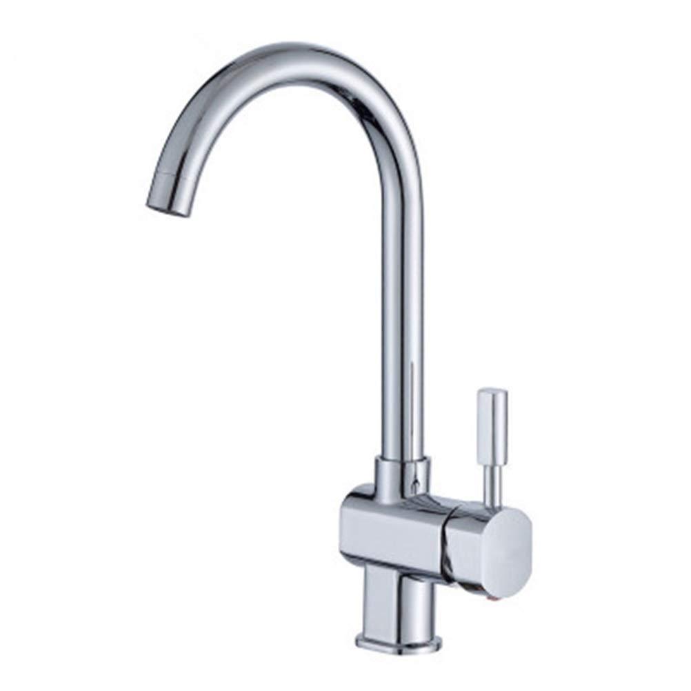 PANGU-ZC Sink Faucet Faucet Alloy Flat Tee Pot Filling Faucet Kitchen Sink Hot and Cold Faucet Bathroom